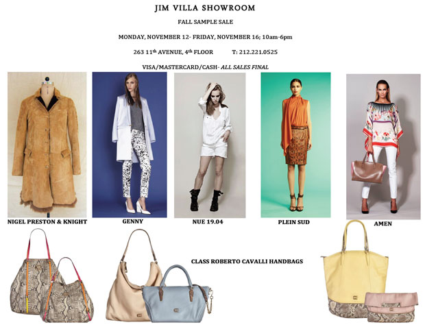 Jim Villa Showroom Sample Sale