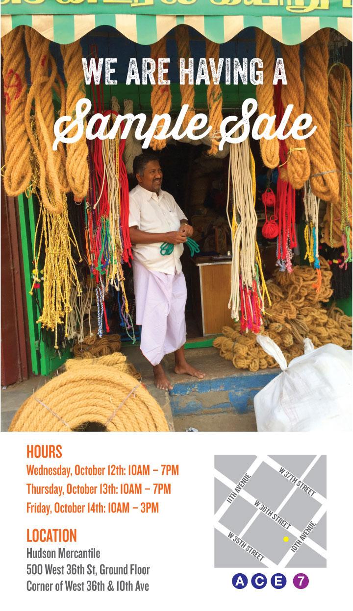 John Robshaw Textiles Annual Sample Sale