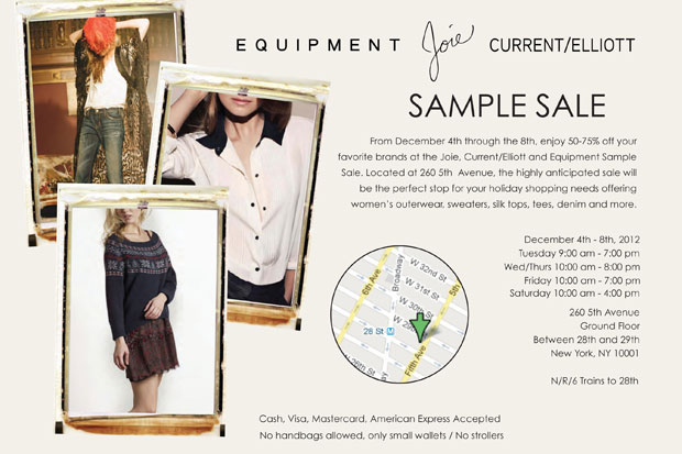 Joie, Current/Elliott and Equipment Sample Sale