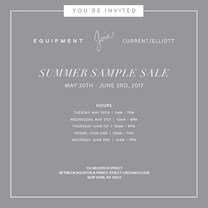 Joie, Equipment, & Current/Elliott Summer Sample Sale