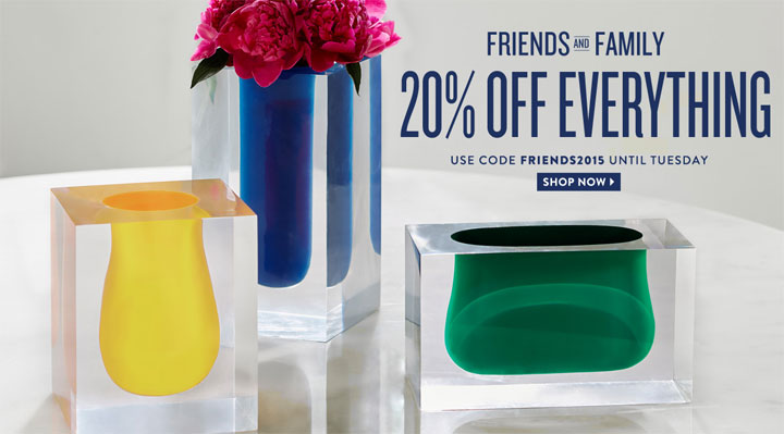 Jonathan Adler Friends & Family Sale