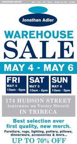 Jonathan Adler Warehouse Sale