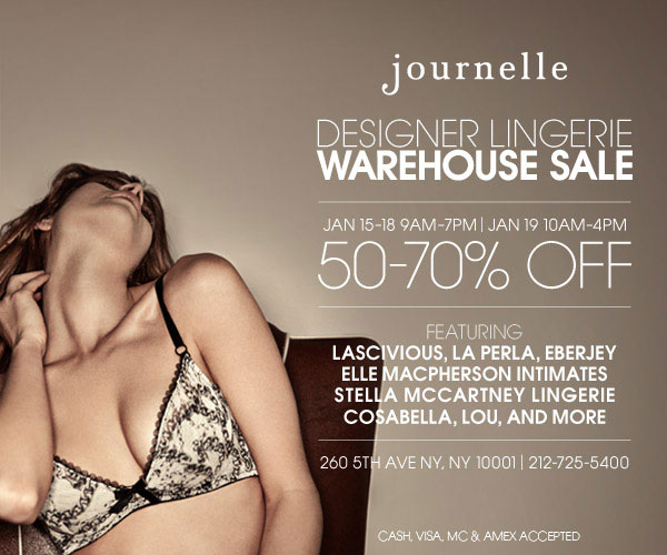 Journelle Designer Lingerie Warehouse Sale