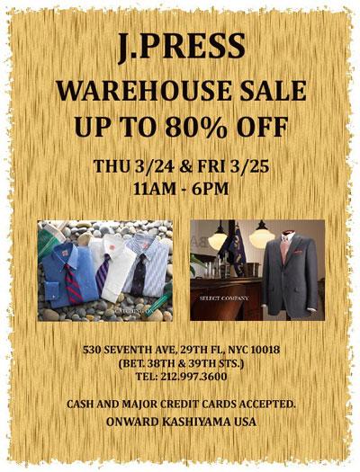J.Press Warehouse Sale
