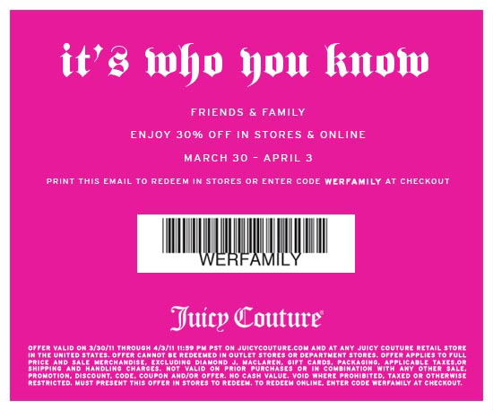 30% off at Juicy Couture