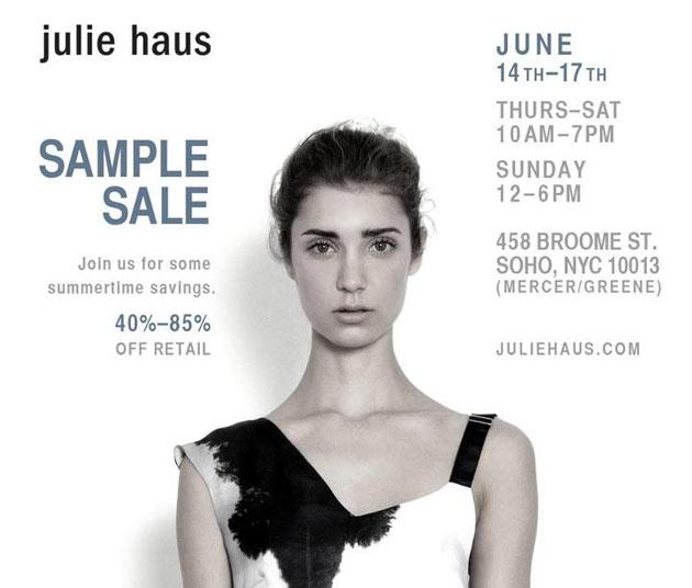 Julie Haus Sample Sale