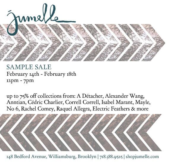 jumelle Sample Sale