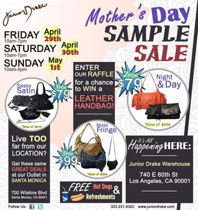 Junior Drake Mothers Day Sample Sale