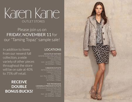 Karen Kane Sample Sale