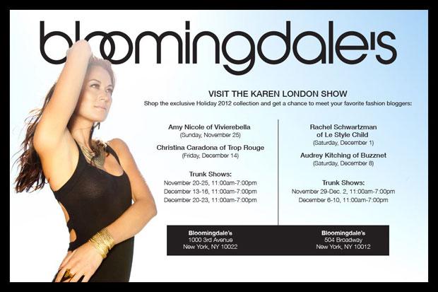Karen London Jewelry Trunk Show at Bloomingdale's