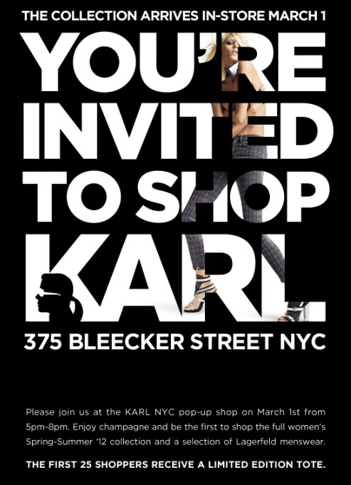 Karl by Karl Lagerfeld Pop-up Shop Opening