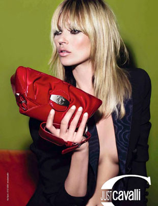 Just Cavalli clutch seen in their 2012 campaign and modeled by Kate Moss for a mere, $190 marked down from $566.