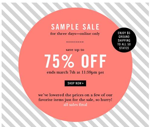 Kate Spade Online Sample Sale