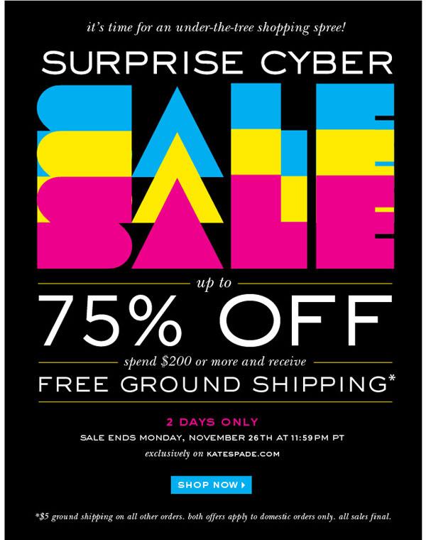 Kate Spade Surprise Cyber Sale