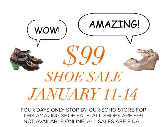 Kisan $99 Shoe Sale