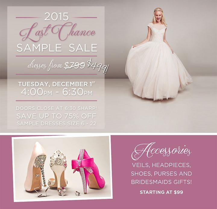 Kleinfeld Bridal Last Chance Sample Sale