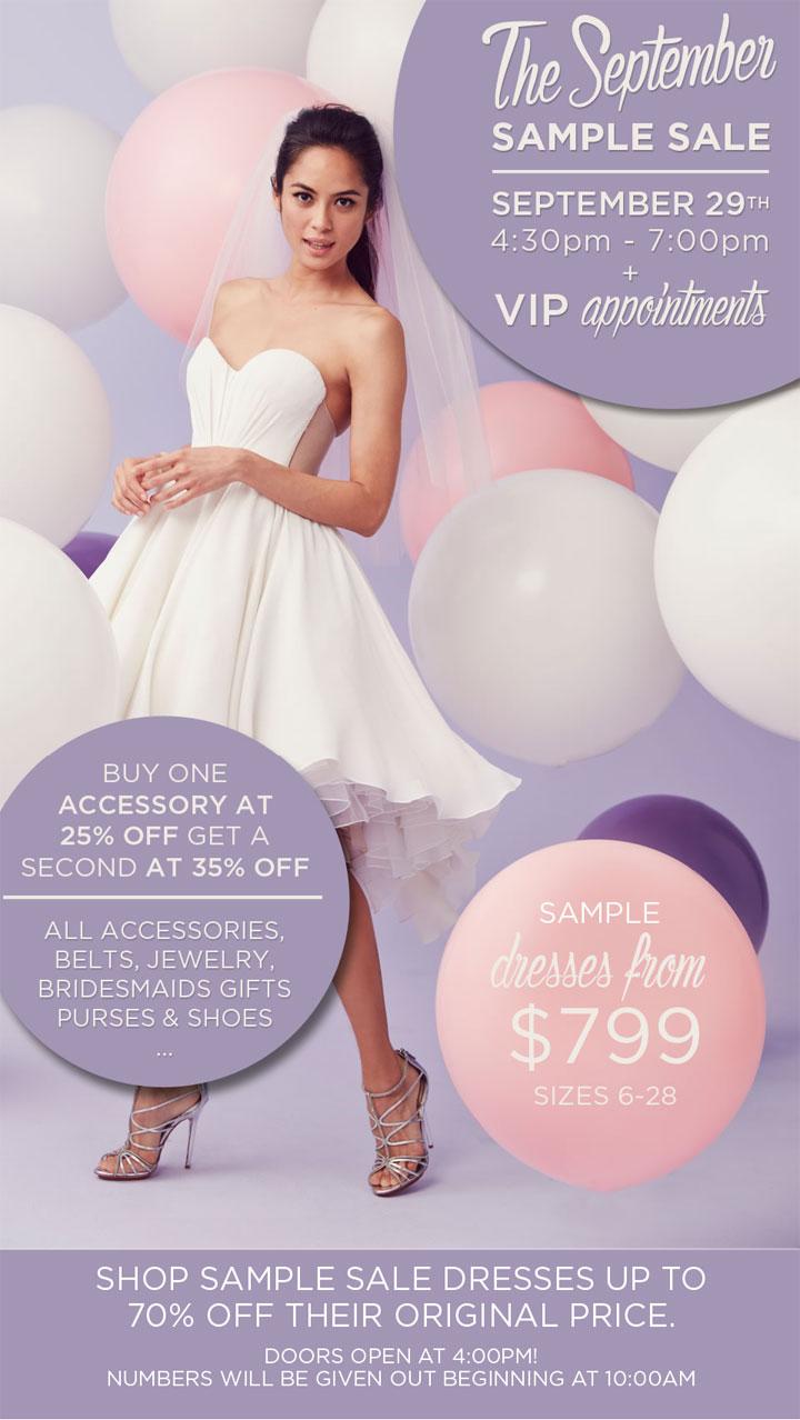 Kleinfeld Bridal September Sample Sale