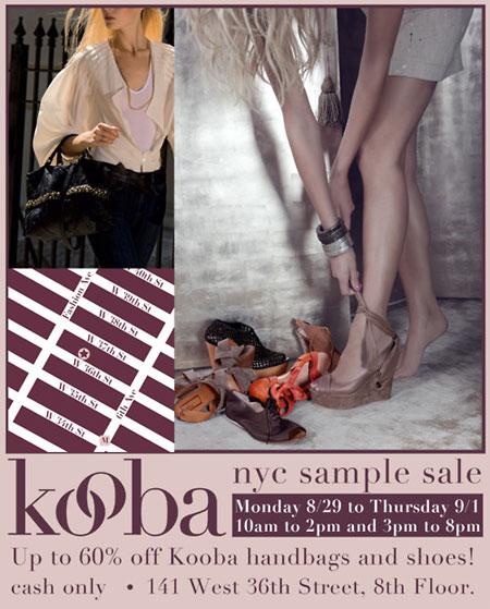 Kooba Sample Sale
