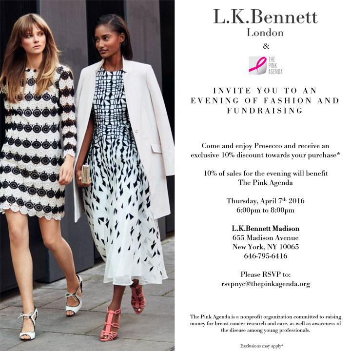 L.K.Bennett + The Pink Agenda Shopping Event