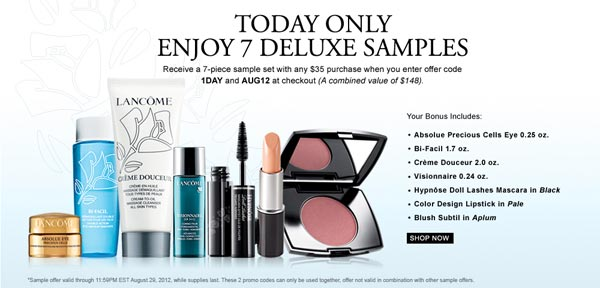 Lancome One Day Sale