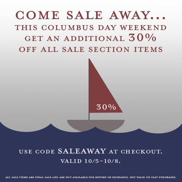 Lauren Merkin Columbus Day Weekend Sale