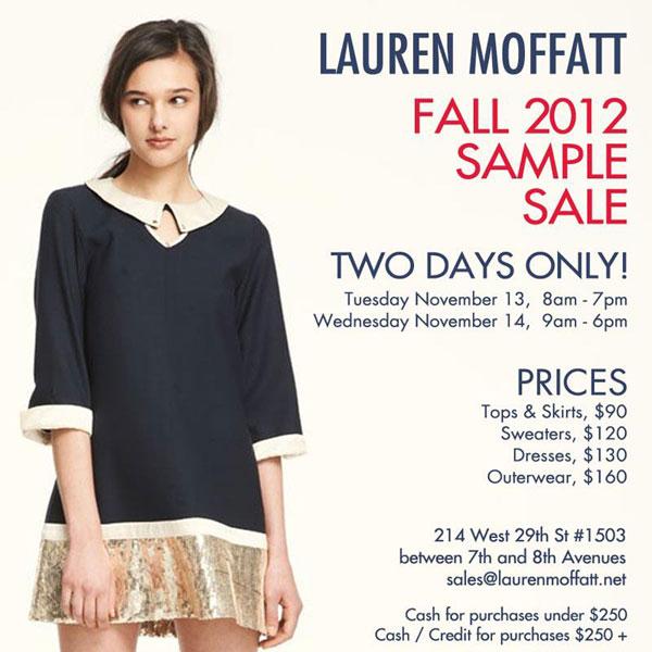 Lauren Moffatt Sample Sale