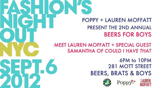 Poppy + Lauren Moffatt Fashion's Night Out Event