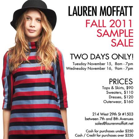 Lauren Moffat Sample Sale