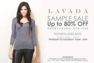 Lavada Sample Sale