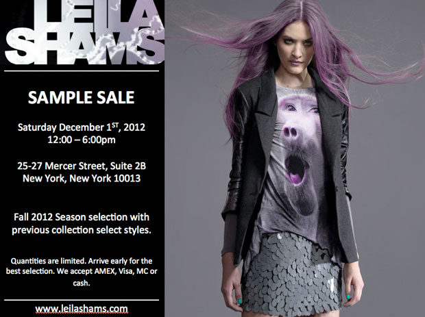 Leila Shams Sample Sale