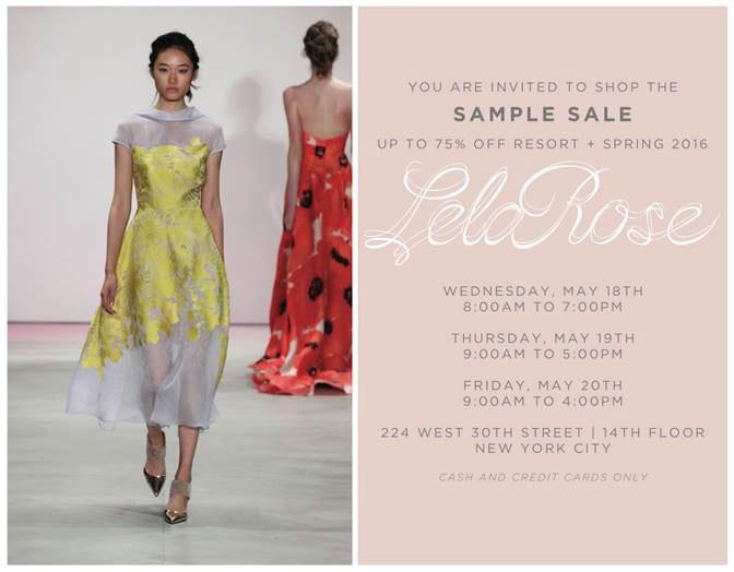 Lela Rose Resort + Spring 2016 Sample Sale
