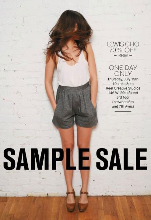Lewis Cho Sample Sale