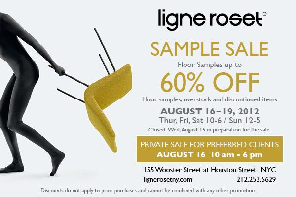 ligne roset home decor new york sample sale. Black Bedroom Furniture Sets. Home Design Ideas