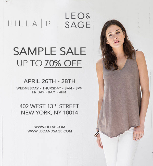 Lilla P and Leo & Sage Sample Sale