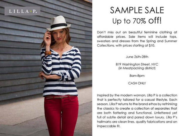 Lilla P Sample Sale