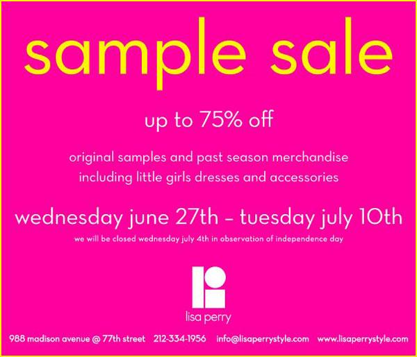 Lisa Perry Sample Sale