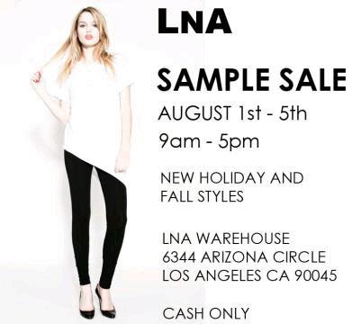 LnA Sample Sale