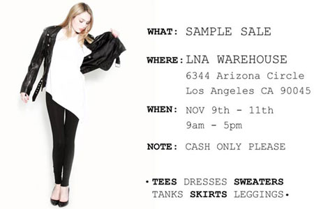 LNA Warehouse Sale