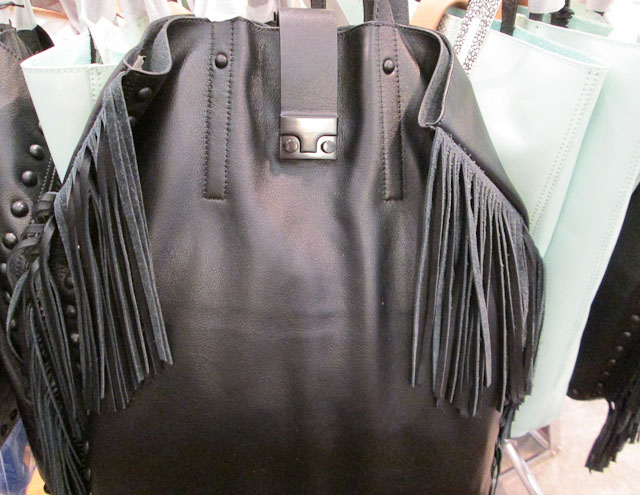 Buttery soft black fringed draping totes