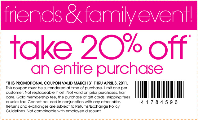 Extra 20% off your entire purchase at Loehmann's
