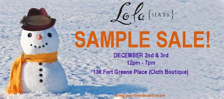 Lola Hats Sample Sale