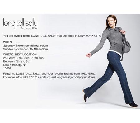 Long Tall Sally Pop-up Shop: 11/5 - 11/6