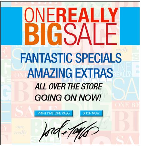 Lord & Taylor Big Sale