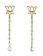 Lotus Aqua Earring