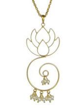 Lotus Drop Pendant