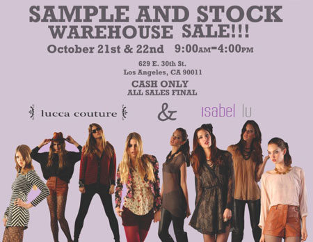 Isabel Lu & Lucca Couture Blowout Warehouse Sale