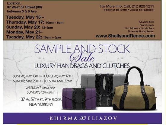 Designer Handbags Stock & Sample Sale