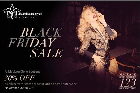 Mackage Black Friday Sale