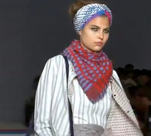Marc Jacobs took patterns to a new level, by mix and matching plaid, stripes, and neon splashes