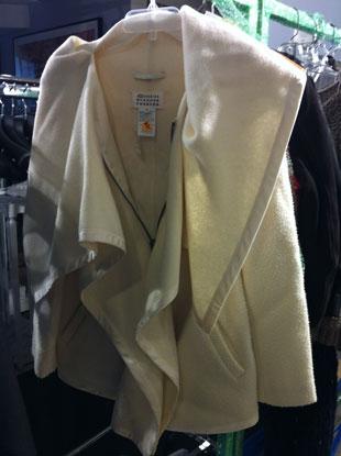Margiela Draped Zip Up Poncho now $621 {size 42}